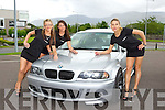 Katarzyna Waerzyniak, Patrycja Gramza and Dominka Lamtkva all Killarney looking at  BMW's on show at the Dublin BMW Polish club funday  in the Gleneagle Hotel on Saturday