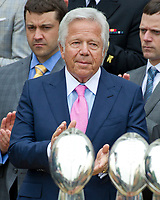 New England Patriots owner Robert Kraft applauds as United States President Donald J. Trump makes remarks welcoming the Super Bowl Champions to the South Lawn of White House in Washington, DC on Wednesday, April 19, 2917.<br /> Credit: Ron Sachs / CNP/MediaPunch<br /> <br /> (RESTRICTION: NO New York or New Jersey Newspapers or newspapers within a 75 mile radius of New York City)