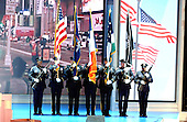 New York, NY - August  30, 2004 --   Presentation of Colors by the NYPD color guard at the opening of the 2004 Republican National Convention in Madison Square Garden in New York, New York on Monday, August 30, 2004..Credit: Ron Sachs / CNP .(RESTRICTION: No New York Metro or other Newspapers within a 75 mile radius of New York City)
