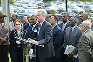 "September 19, 2011 (New Carrollton, MD)  Maryland Governor Martin O'Malley (at podium) and Lt. Governor Anthony G. Brown, joined Prince George's County Executive Rushern Baker in announcing the relocation of the Maryland Department of Housing and Community Development (DHCD) from its current location in Crownsville, Maryland, to a site in New Carrollton, Maryland.  The new site, called ""Metroview,"" will locate DHCD's headquarters in a new, retail, residential, and mixed-use facility. When completed, it will also be convenient to the Purple Line light rail, and is anticipated to generate a net public benefit (to both the State and County) of over $11 million over the course of the 15-year lease and create an estimated 300 jobs in its construction and an additional 80 retail jobs."