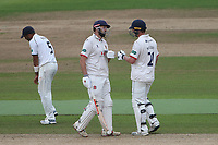 Nick Browne and Tom Westley of Essex enjoy a useful partnership during Warwickshire CCC vs Essex CCC, Specsavers County Championship Division 1 Cricket at Edgbaston Stadium on 12th September 2019