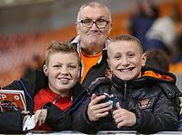 Blackpool fans enjoy the atmosphere before the game<br /> <br /> Photographer Alex Dodd/CameraSport<br /> <br /> The EFL Sky Bet League Two - Blackpool v Stevenage - Tuesday 14th March 2017 - Bloomfield Road - Blackpool<br /> <br /> World Copyright &copy; 2017 CameraSport. All rights reserved. 43 Linden Ave. Countesthorpe. Leicester. England. LE8 5PG - Tel: +44 (0) 116 277 4147 - admin@camerasport.com - www.camerasport.com