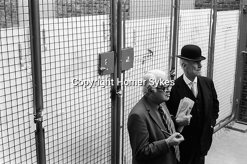 Grunwick Strike North London UK. Labour MP  Ian Mikado with pipe and left-wing Labour toff,( according to Tony Benn MP ) John Faithful Fortescue Platts-Mills, QC with bowler hat and a copy of the Daily Telegraph.