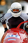19 November 2005: Vuk Radjenovic pilots the Serbia & Montenegro 1 sled to a 33rd place finish at the 2005 FIBT AIT World Cup Men's 2-Man Bobsleigh Tour at the Verizon Sports Complex, in Lake Placid, NY. Mandatory Photo Credit: Ed Wolfstein.