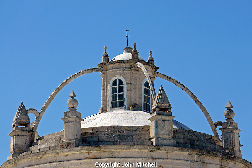 Dome of the Catedral San Ildefonso cathedral in Merida, Yucatan, Mexico...