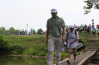 Keegan Bradley (USA) crosses the footbridge from the 9th tee during Thursday's Round 1 of the 2014 PGA Championship held at the Valhalla Club, Louisville, Kentucky.: Picture Eoin Clarke, www.golffile.ie: 7th August 2014