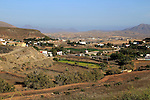 Overview of village and countryside, Cardon, Fuerteventura, Canary Islands, Spain