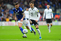 Marlon Pack of Cardiff City vies for possession with Bersant Celina of Swansea City during the Sky Bet Championship match between Cardiff City and Swansea City at the Cardiff City Stadium in Cardiff, Wales, UK. Sunday 12 January 2020