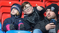 Young Bolton Wanderers fans enjoy the pre-match atmosphere<br /> <br /> Photographer Alex Dodd/CameraSport<br /> <br /> The EFL Sky Bet League One - Bolton Wanderers v Northampton Town - Saturday 18th March 2017 - Macron Stadium - Bolton<br /> <br /> World Copyright &copy; 2017 CameraSport. All rights reserved. 43 Linden Ave. Countesthorpe. Leicester. England. LE8 5PG - Tel: +44 (0) 116 277 4147 - admin@camerasport.com - www.camerasport.com