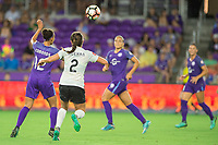 Orlando, FL - Saturday August 12, 2017: Kristen Edmonds, Mckenzie Meehan during a regular season National Women's Soccer League (NWSL) match between the Orlando Pride and Sky Blue FC at Orlando City Stadium.