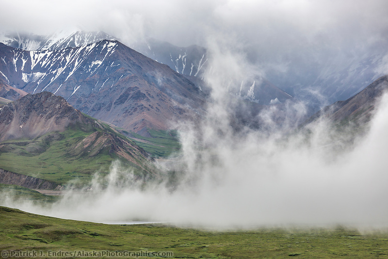 Clouds over the Alaska range, Denali National Park, Alaska.