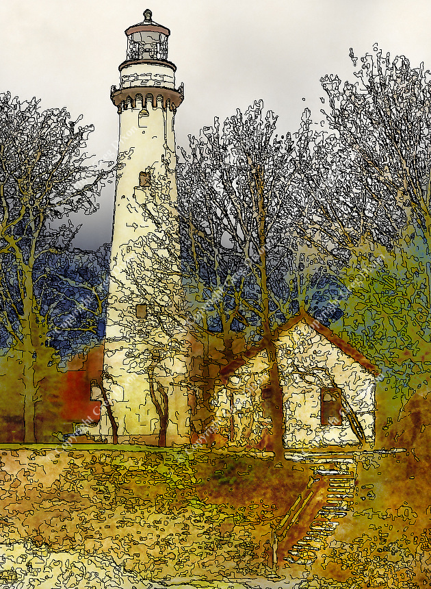 """""""For the Love of Piet""""  Grosse Point Lighthouse  Evanston, Illinois 