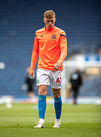 11th July 2020; Ewood Park, Blackburn, Lancashire, England; English Football League Championship Football, Blackburn Rovers versus West Bromwich Albion; Hayden Carter of Blackburn Rovers warms up before the game Strictly Editorial Use Only. No use with unauthorized audio, video, data, fixture lists, club/league logos or 'live' services. Online in-match use limited to 120 images, no video emulation. No use in betting, games or single club/league/player publications