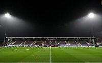 A general view of the Turf Moor stadium<br /> <br /> Photographer Andrew Kearns/CameraSport<br /> <br /> The Premier League - Burnley v Liverpool - Wednesday 5th December 2018 - Turf Moor - Burnley<br /> <br /> World Copyright &copy; 2018 CameraSport. All rights reserved. 43 Linden Ave. Countesthorpe. Leicester. England. LE8 5PG - Tel: +44 (0) 116 277 4147 - admin@camerasport.com - www.camerasport.com