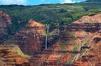"""Waimea Canyon,""""The Grand Canyon of the Pacific"""" on Kauai's west side, Hawaii."""