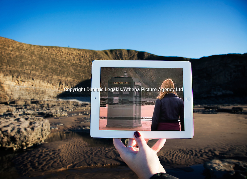 Pictured: Filming of Doctor Who in Dunraven Bay, South Wales with David Tennant and Billie Piper<br /> Re: A pair of film lovers have turned detective to track down locations from films and TV shows - and capture the exact scenes on their iPads.<br /> Tiia Ohman, 25, and Satu Walden, 26, travel hundreds of miles across Britain tracing the footsteps of their movie heroes to photograph the action spots.<br /> The two young women who live in Cardiff painstakingly recreate their favourite scenes using an iPad or phone screens to stand in for the stars.<br /> They've brought to life scenes from silver screen blockbuster such as Harry Potter, Les Miserables and Warhorse.<br /> And their &quot;sceneframing&quot; shots also feature locations seen in Dr Who, Sherlock and Merlin.<br /> Tiia said: &quot;This combines our love of TV and movies, photography, travel and much more.<br /> &quot;What started as an epic road trip to filming locations all over the UK eventually led to a series of photos we like to call sceneframing.<br /> &quot;Visiting filming locations is the perfect way to see places you wouldn't necessarily find in Lonely Planet books and travel guides.&quot;<br /> Tiia and Satu, originally from Finland, live in Cardiff where they spend their spare time researching film locations.<br /> Their &quot;fangirl quest&quot; blog (www.fangirlquest.com) has already seen them cover more than 2,000 miles travelling across the country including top locations in Cardiff, Newport and Pembrokeshire.
