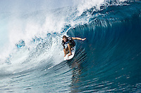 BEN DUNN (AUS)TEAHUPOO, Tahiti (Saturday, May 9, 2009) - The 2009 Billabong Pro Tahiti presented by Air Tahiti Nui commenced today with fourteen heats of Round 1completed in 1.5 -2 meter waves. Conditions remained perfect all day with light winds. Former world surfing champion ANDY IRONS (HAW) entered the contest as a wild card and was one of the standout surfers of the day, advancing to Round 2. The event is Stop No. 3 of 10 on the 2009 ASP World Tour and boasts a waiting period from May 9 through May 20, 2009..The contest brings together 45 of the world's best surfers charging the heaviest wave on earth in one of the most pristine locations on the planet..This year's event will run the new format, seeding all competitors directly into man-on-man elimination heats, with the Top 16 seeded directly into Round 2 while the remaining surfers battle it out in Round 1..Photo: joliphotos.com
