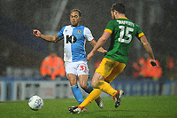 Blackburn Rovers' Elliott Bennett vies for possession with Preston North End's Joe Rafferty<br /> <br /> Photographer Kevin Barnes/CameraSport<br /> <br /> The EFL Sky Bet Championship - Blackburn Rovers v Preston North End - Saturday 11th January 2020 - Ewood Park - Blackburn<br /> <br /> World Copyright © 2020 CameraSport. All rights reserved. 43 Linden Ave. Countesthorpe. Leicester. England. LE8 5PG - Tel: +44 (0) 116 277 4147 - admin@camerasport.com - www.camerasport.com