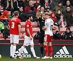 James McEveley of Sheffield Utd receives a yellow card - English League One - Sheffield Utd vs Coventry City - Bramall Lane Stadium - Sheffield - England - 13th December 2015 - Pic Simon Bellis/Sportimage-