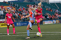 Rochester, NY - Saturday Aug. 27, 2016: Denise O'Sullivan, McCall Zerboni during a regular season National Women's Soccer League (NWSL) match between the Western New York Flash and the Houston Dash at Rochester Rhinos Stadium.