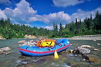 Boat on Talachulitna River. Alaska.