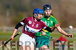 Aine O'Conner Kerry in action against Amy Cully Westmeath in the 2019 Camogie League Division 2 at John Mitchells GAA grounds in Tralee, on Sunday.