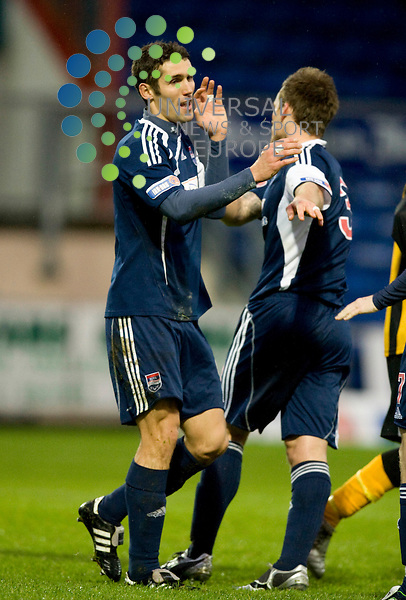 FOOTBALL.The Active Nation Scottish Cup.Ross County v Berwick.Ross County player Paul di Giacomo is congratulated on his opening goal..Picture by Gordon Gillespie/Universal News and Sport (Scotland)