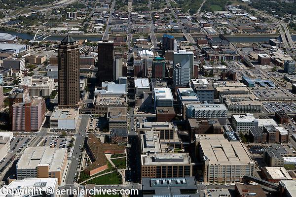 aerial photograph Des Moines, Iowa