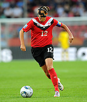 Christine Sinclair of team Canada during the FIFA Women's World Cup at the FIFA Stadium in Dresden, Germany on July 5th, 2011.