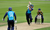 Cricket - Hampshire Royals V Scottish Saltires at The Rosebowl - Southampton - the only batting resistance for the Saltires came from overseas player George Worker (here batting with Oli Hairs in front of Royals keeper Michael Bates) - Picture by Donald MacLeod -29.08.11 - 07702 319 738 - www.donald-macleod.com