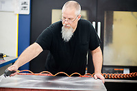 Commercial photography of Minnesota manufacturing company P&F Indistries based in Otsego Minnesota; the company produces complex aluminum, steel and other metal components for high tech industries and delivers quality, high tolerance parts to high tech companies throughout the United States