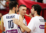 Kosarka FIBA Olympic Basketball Qualifying Tournament-FINAL<br /> Serbia v Puerto Rico<br /> from left Nikola Kalinic Bogdan Bogdanovic and Milos Teodosic<br /> Beograd, 09.07.2016.<br /> foto: Srdjan Stevanovic/Starsportphoto&copy;