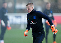 Jordan Pickford of England during the England National Team Training ahead of the international friendly match with Italy at Tottenham Hotspur Training Ground, Hotspur Way, England on 26 March 2018. Photo by Vince  Mignott.