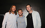 Season 18 contestant Paulie Calafiore and Corey Brooks (R) pose with Spencer (L) at Big Brother 19 premiere on June 28, 2017 at Slate, New York City, New York. (Photo by Sue Coflin/Max Photos)