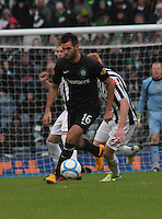 Joe Ledley in the St Mirren v Celtic Scottish Communities League Cup Semi Final match played at Hampden Park, Glasgow on 27.1.13.