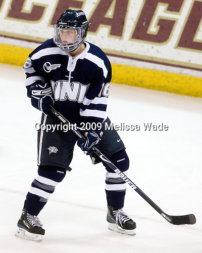 Micaela Long (UNH - 16) - The University of New Hampshire Wildcats defeated the Boston College Eagles 4-0 on Tuesday, December 8, 2009, at Conte Forum in Chestnut Hill, Massachusetts.