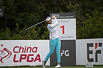 Golfer Ai-Chen Kuo of Taiwan during the 2017 Hong Kong Ladies Open on June 9, 2017 in Hong Kong, China. Photo by Chris Wong / Power Sport Images