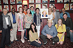 Estelle Parsons, Judy Kaye, Kelli O'Hara, Matthew Broderick, Michael McGrath & Joe DiPietro with the Company of 'Nice Work if You Can Get It'.attending the unveiling of the Sardi's Kelli O'Hara Caricature in New York City on June 5, 2012.