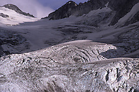The Bondasca glacier waiting for the summer to end. Bergell, Switzerland, August 2011.
