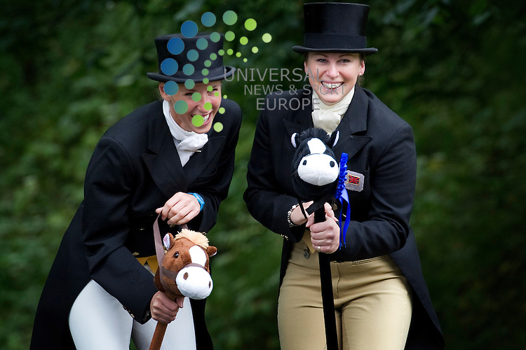 Louisa Milne Home and Nicky Roncoroni, who will be taking part in the Gillespie Macandrew Hopetoun International Horse Trials, have fun in Edinburgh ahead of the event which will raise money for Macmillan Cancer Support, Edinburgh, Scotland, 11th July 2011..Picture:Scott Taylor Universal News And Sport (Europe) .All pictures must be credited to www.universalnewsandsport.com. (Office)0844 884 51 22.