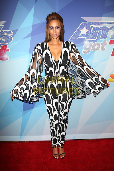 HOLLYWOOD, CA - AUGUST 22: Tyra Banks, at &ldquo;America&rsquo;s Got Talent&rdquo; Season 12 Live Show the Quarter Final Round at The Dolby Theatre at Beverly Hills on August 22, 2017 in Los Angeles, California. <br /> CAP/MPI/FS<br /> &copy;FS/MPI/Capital Pictures