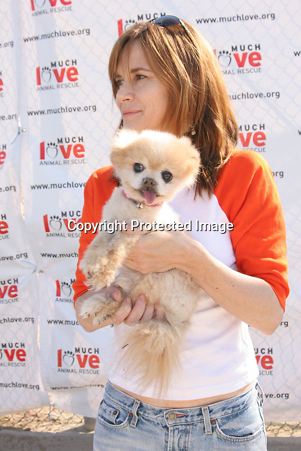 Lara Regan &amp; Mr. Winkle<br />3rd Annual Bow-Wow-Ween<br />Barrington Park<br />Los Angeles, CA, USA<br />Sunday, October 31, 2004<br />Photo By Celebrityvibe.com/Photovibe.com, <br />New York, USA, Phone 212 410 5354, <br />email: sales@celebrityvibe.com
