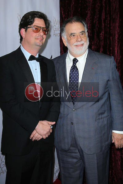 Roman Coppola and Francis Ford Coppola<br />