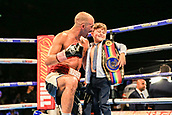 30th September 2017, Echo Arena, Liverpool, England; Matchroom Boxing, Eliminator for WBA Bantamweight World Championship; Tom Stalker  wins on points to retain his title