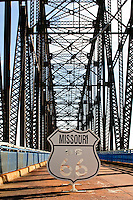 Chain of Rocks Bridge on Mississippi river between Illinois and Missouri.