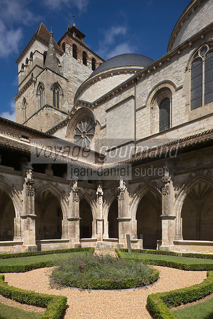 Europe/France/Midi-Pyrénées/46/Lot/Cahors: Cloitre renaissance de la Cathédrale St-Etienne et le Le Préau Céleste jardin qui fait partie des jardins secrets de Cahors