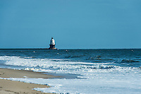 Harbor of Refuge Lighthouse, Cape Henlopen, Lewes, Delaware, USA