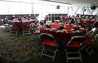 A university suite set up for a banquet or wedding reception at Ohio Stadium Thursday, May 20, 2004 in Columbus, Ohio.