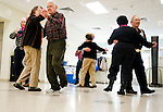 SOUTHBURY,  CT-123016JS07-- Visitors to the Southbury Senior Center hone their square dancing skills every Friday at the center. <br /> Jim Shannon Republican-American