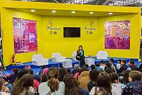 SÃO PAULO, SP, 07.08.2018 - CULTURA-SP -  Marina Bandeira Klink lança livro infantil na 25ª BIENAL Internacional do Livro de São Paulo no Anhembi no bairro de Santana na região Norte de São Paulo na tarde desta terça-feira, 07. (Foto: Anderson Lira / Brazil Photo Press)